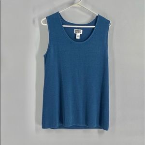 Chicos blue sweater vest size 8 or M
